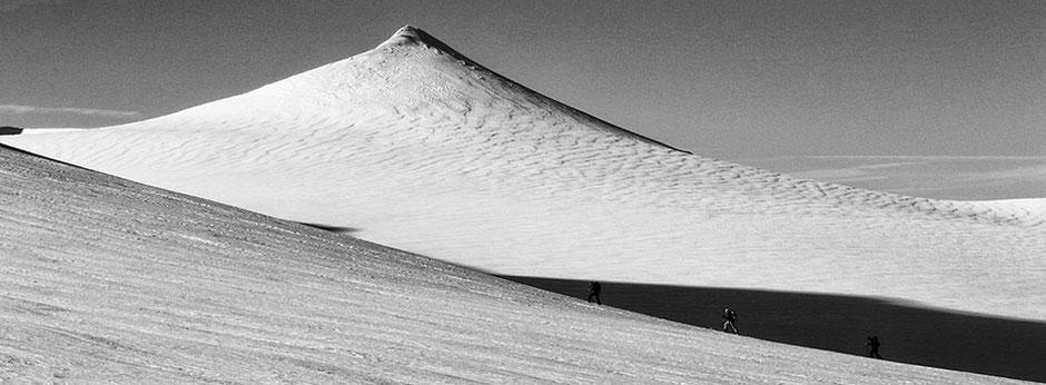 Skitourengeher auf dem Taschachferner an der Wildspitze