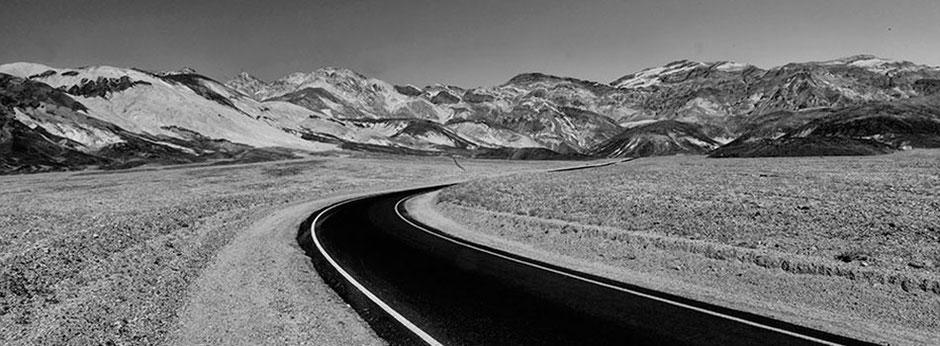 Schwarzweiss Bilder aus dem Death Valley