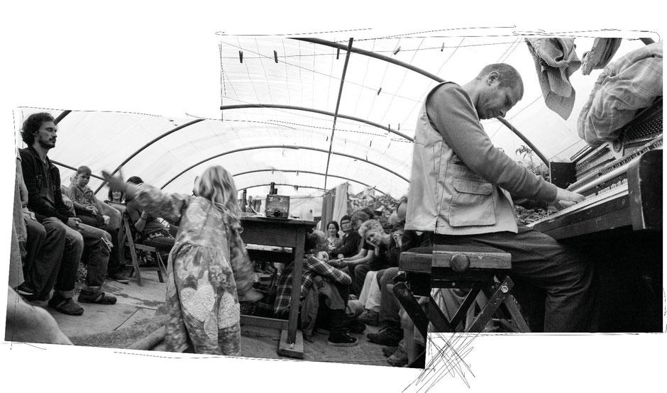 concert de François Deguser dans le jardin des creatifs, Pluvigner @johannegicquel