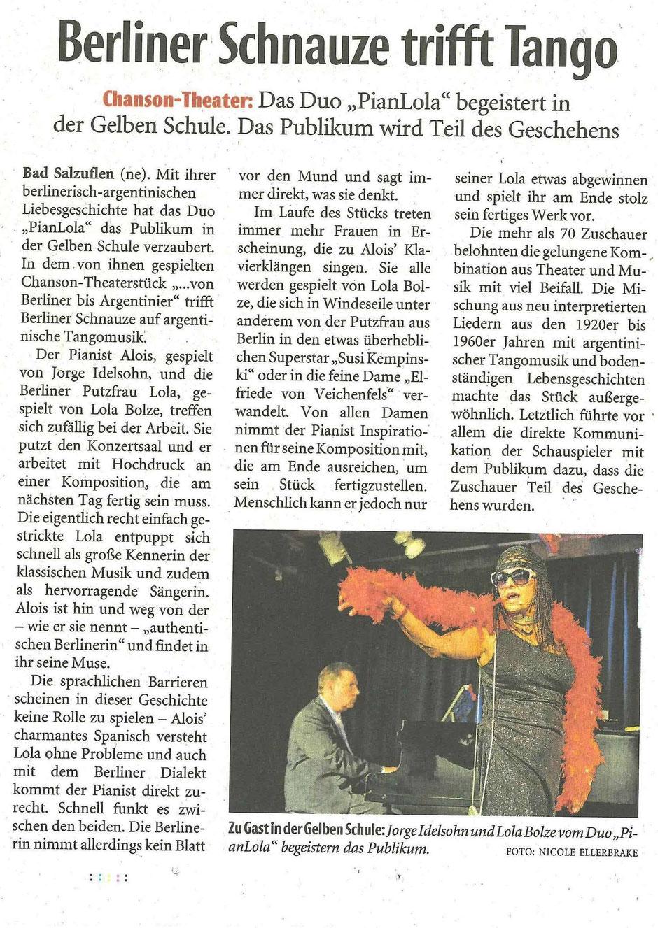 Lippische Landeszeitung vom 15.10.18 Frau Nicole Ellerbrake