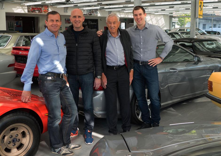 Das Küng Team auf einen Blick; Hans, Roman, Hans sen. und Fredy
