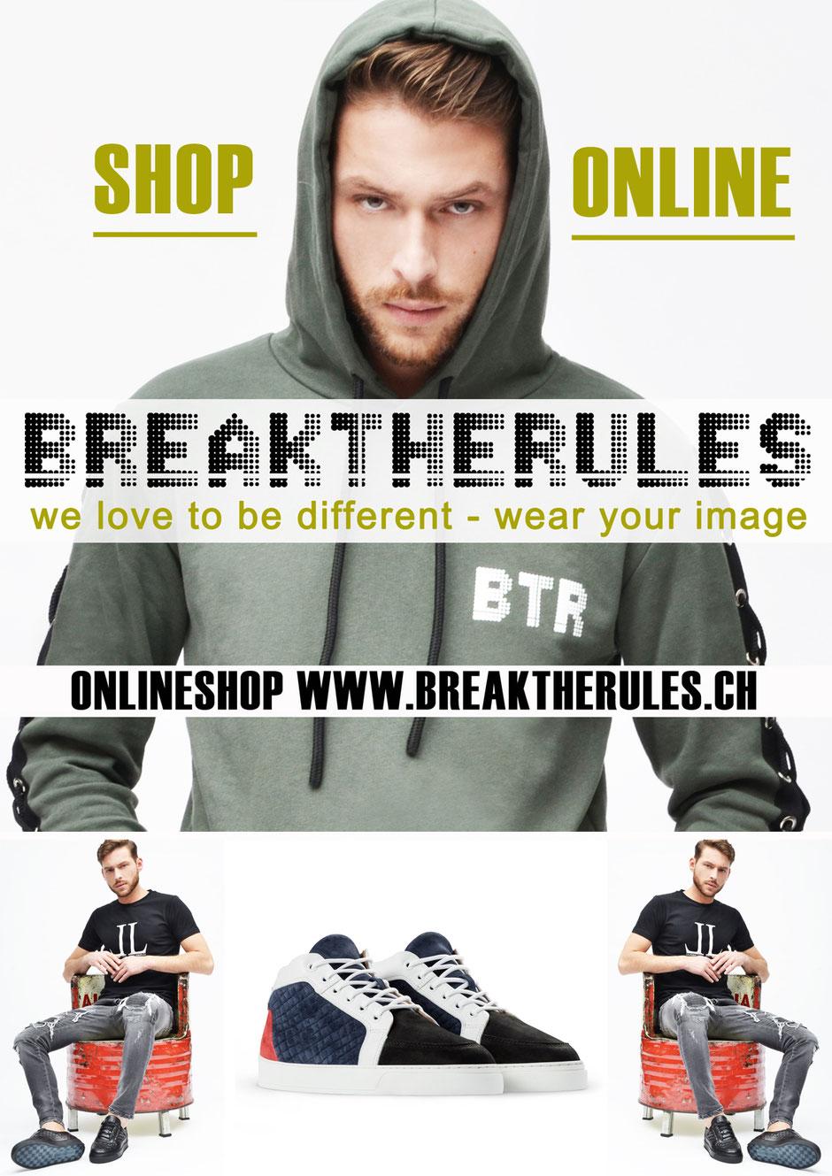 Breaktherules ist der Multibrand Onlineshop mit Tiefpreisgarantie der Baselisbeautiful AG Steinenvorstadt 4 4051 Basel
