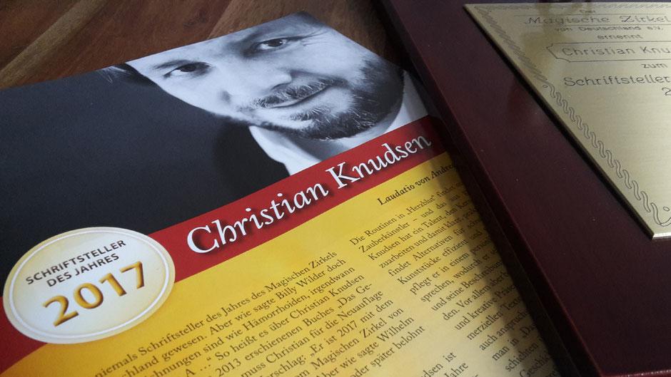 Schriftsteller des Jahres 2017 - Christian Knudsen, Zauberer in Hamburg