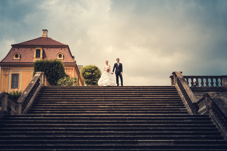 Elisa & Sebastian - Hochzeit im Barockgarten Großsedlitz - LichtrefLex Hochzeitsfotograf Dresden