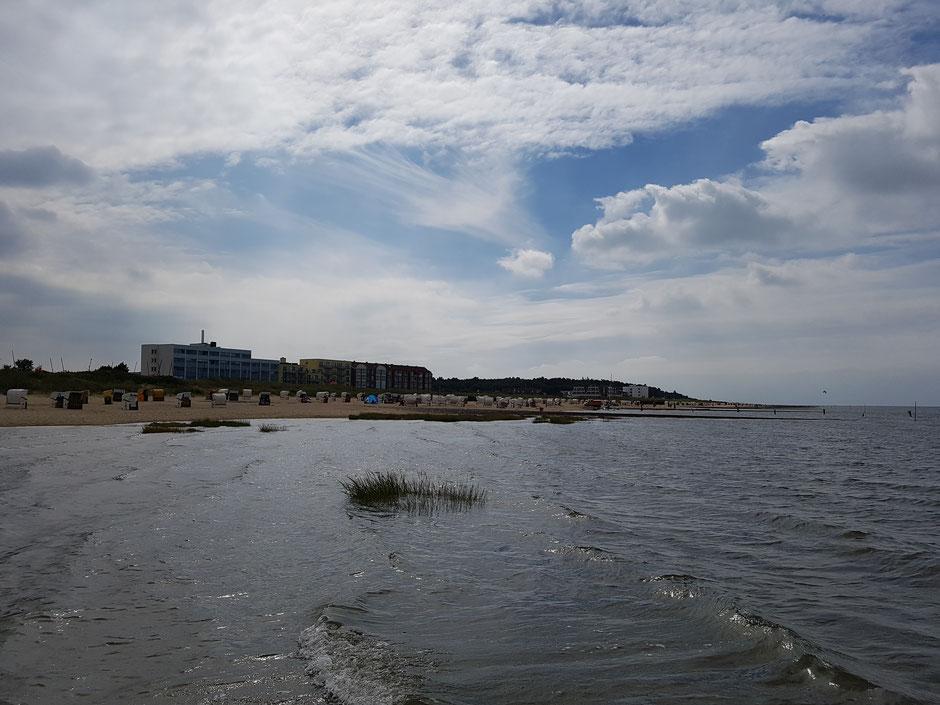 Plattdüütsch: Strand in'n Cuxhobener Stadtdeel Sahlenborg