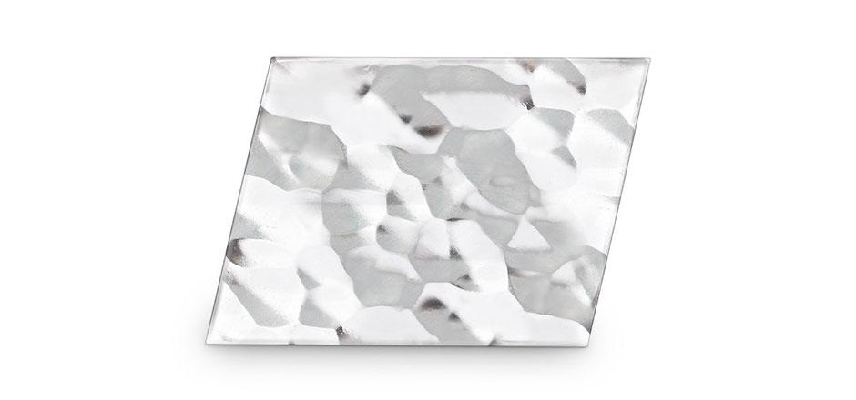 Bild: Hammerschlag Manschettenknöpfe Raute handgearbeitet aus 925er Sterlingsilber