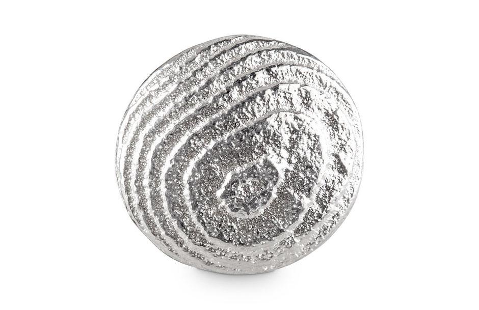 Bild: Ossa-Sepia Guss Manschettenknöpfe rund handgearbeitet aus 925er Sterlingsilber