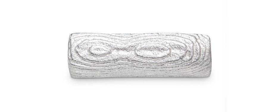 Bild: Ossa-Sepia Guss Manschettenknöpfe Rechteck handgearbeitet aus 925er Sterlingsilber