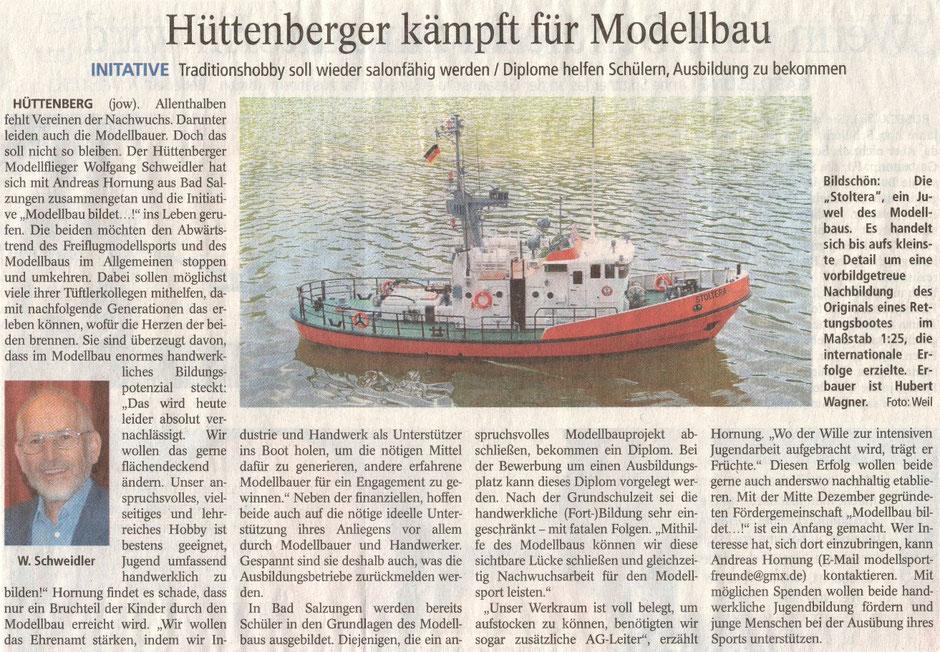 Hüttenberger kämpft für Modellbau