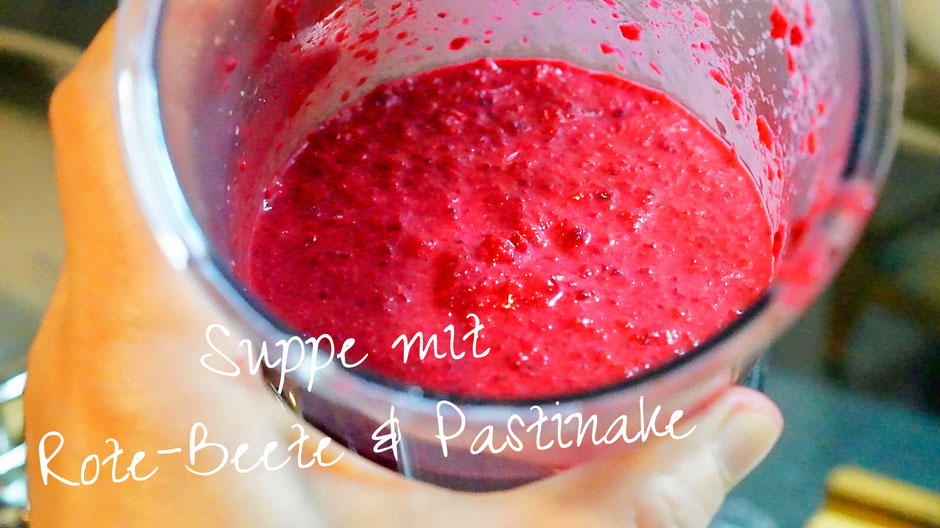 Suppe mit Rote Beete & Pastinake