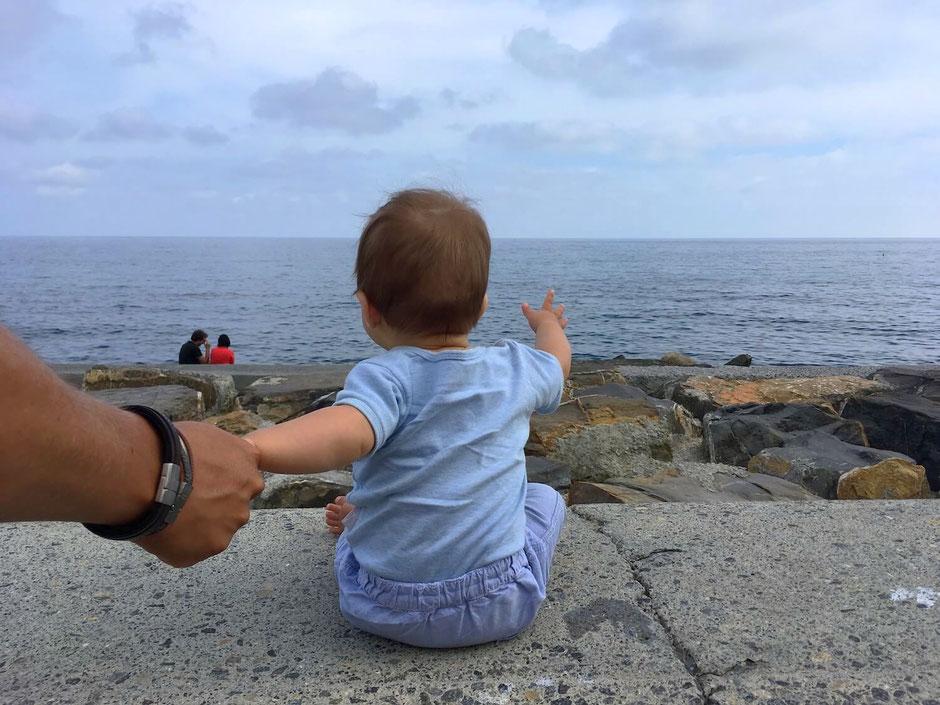 San Remo: Hipster-Mini auf der Promenade