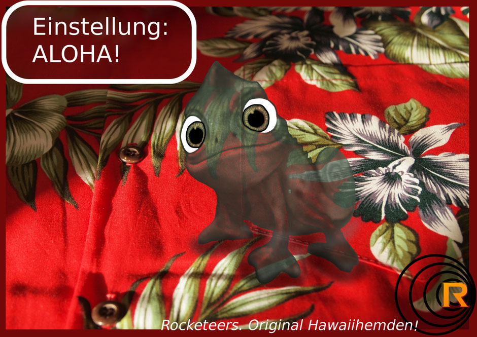 Original Hawaiihemd von Rocketeers Ad