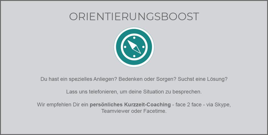 Kurzeit-Coaching Erfolgreiche Aussichten ONLINE Coaching