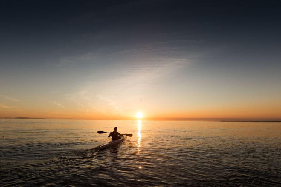 Daglicht vlak na zonsopgang