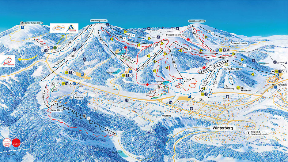 Winterberg: 34 beschneite Abfahrten mit insgesamt 27,5 Kilometern Streckenlänge
