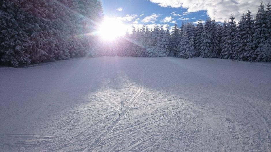 Traumhafte Piste Sternrodt Bruchhausen - bei guter Schneelage ein Geheimtpp mit langer Piste ohne Warteschlangen