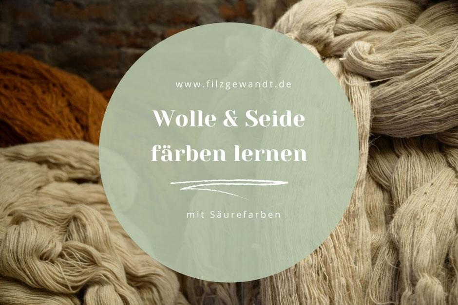 Wolle selbst färben mit Säurefarben