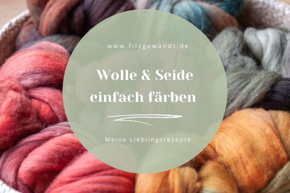 Wolle Seide selber färben Rezepturen