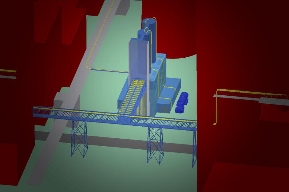 3D-Darstellung der Anlage im Kraftwerk Schkopau
