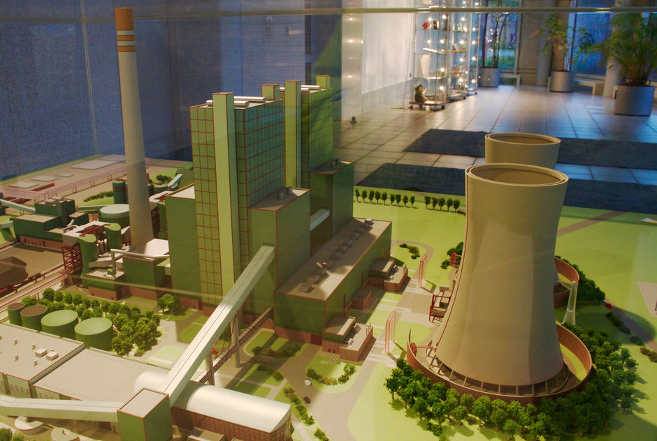 Model of the power plant in Schkopau