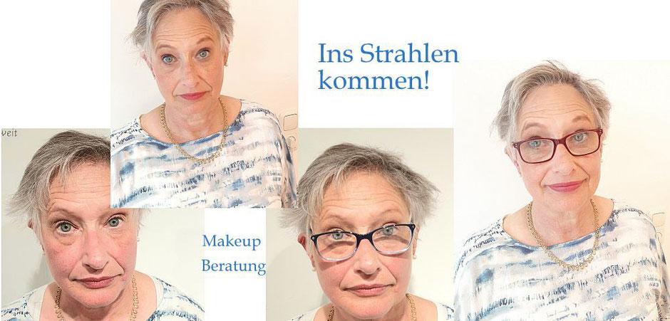 Makeup-Einzelberatung - strahlender kann ein vorher/nachher Effekt nicht sein.