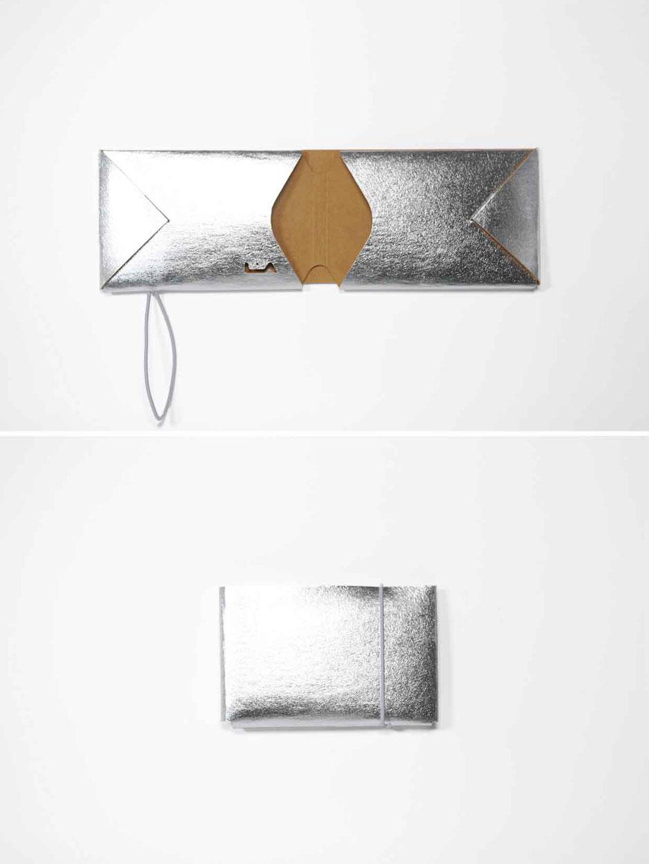 liaform  Kartenetui silberi | Vegane Mini Origami Geldbörse | vegan mini oriami purse/wallet | Portefeuille Vegan Mini Origami