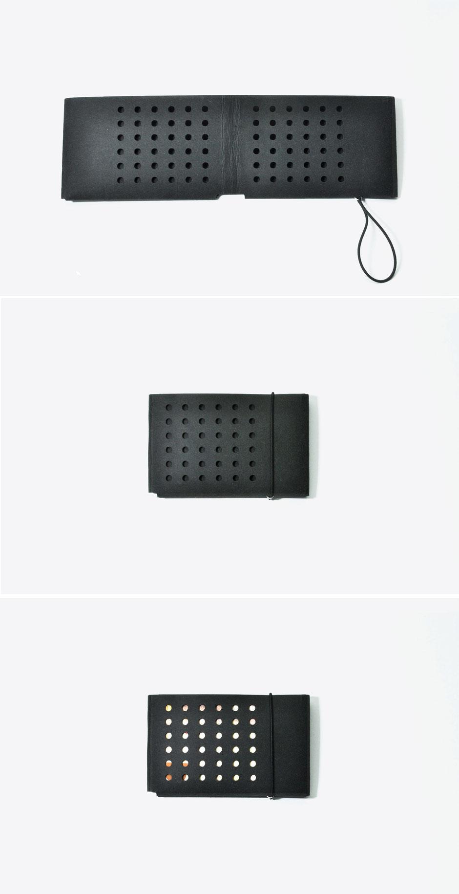 liaform,  Portemonnaie LUDWIG schwarz/uni.  | Vegane Mini Origami Geldbörse | vegan mini oriami purse/wallet | Portefeuille Vegan Mini Origami