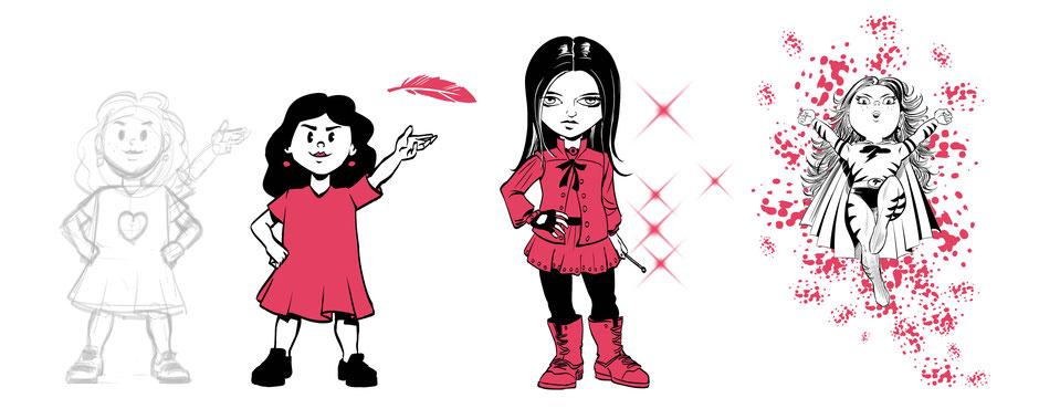 Women Day Girl, Magic Girl, Super Flash Girl