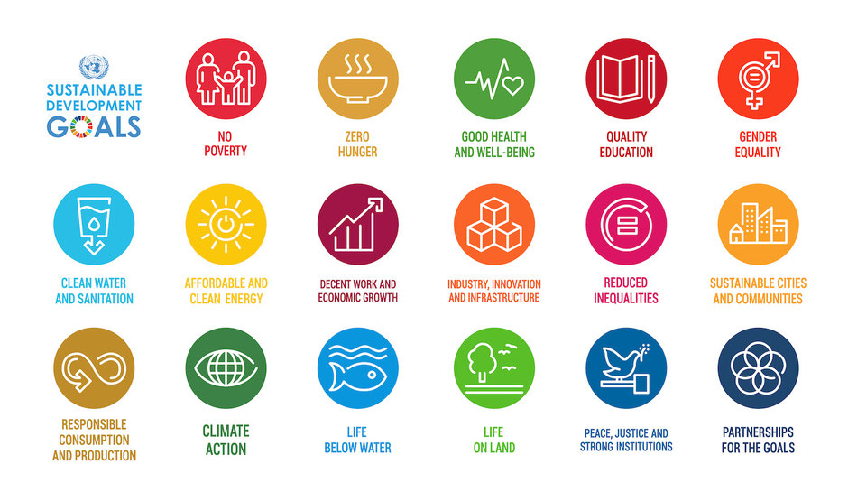 Overzicht Duurzame Ontwikkelingsdoeleinden (SDG's) van de Verenigde Naties / Adobe Stock / Backwooddesign