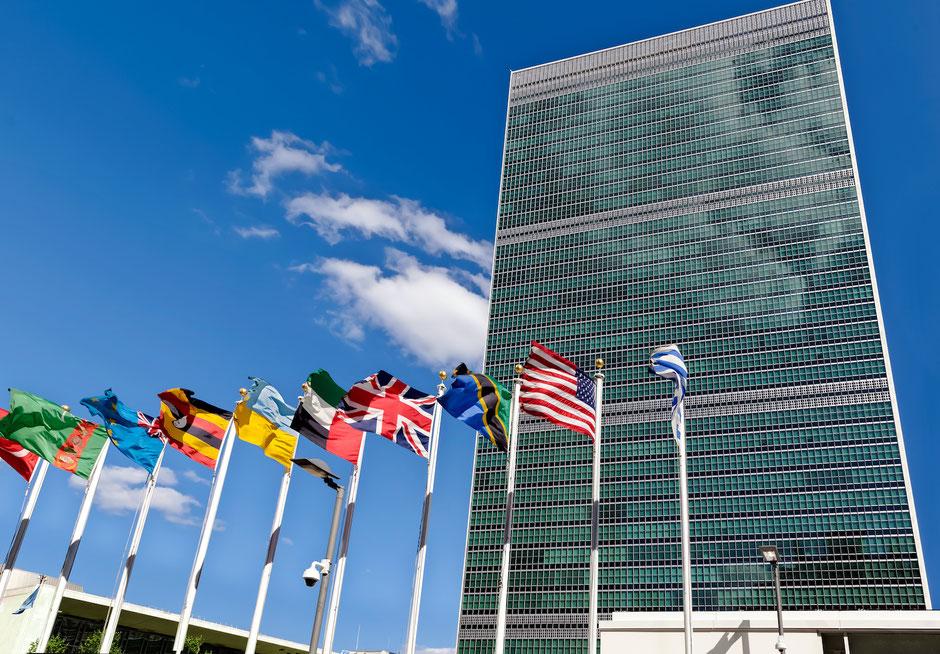 Adobe Stock / Bluraz // Hoofdkwartier Verenigde Naties te New York. Stedelijke diplomaten lobbyen hier voor meer lokaal zelfbestuur