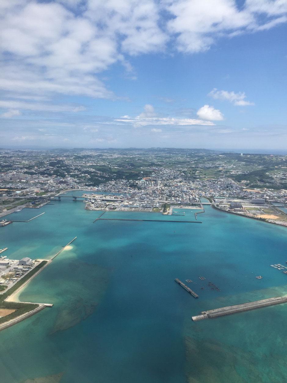 沖縄那覇空港上空の写真