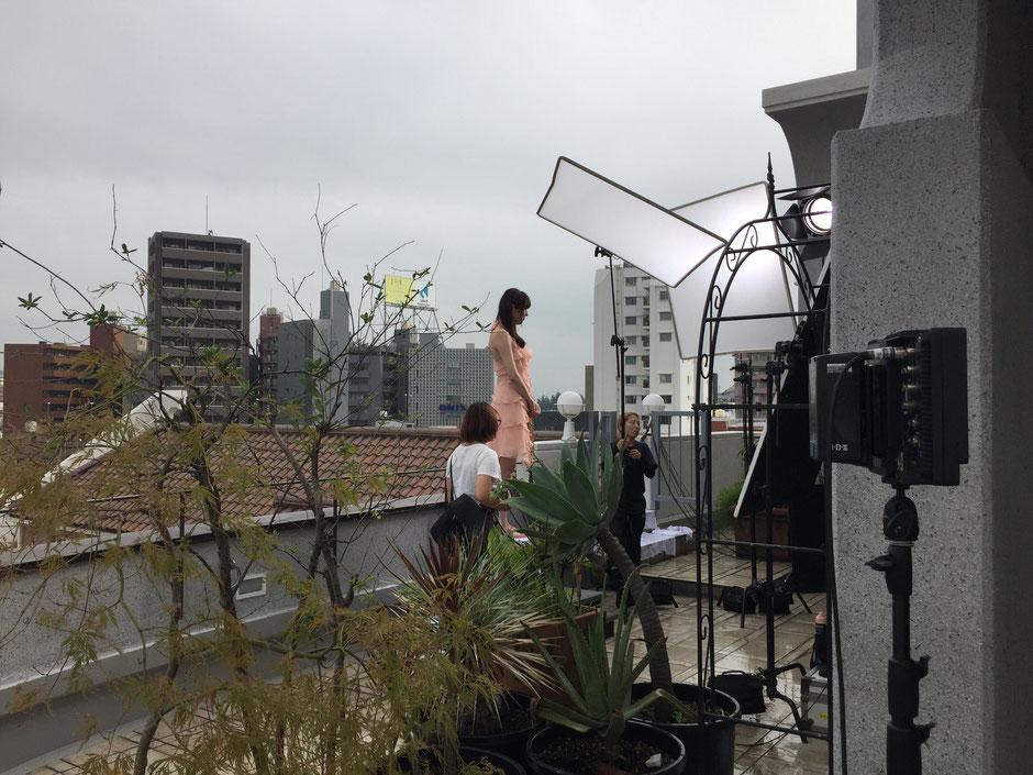 Jimdo TV CM撮影 フルート奏者 Yumiko