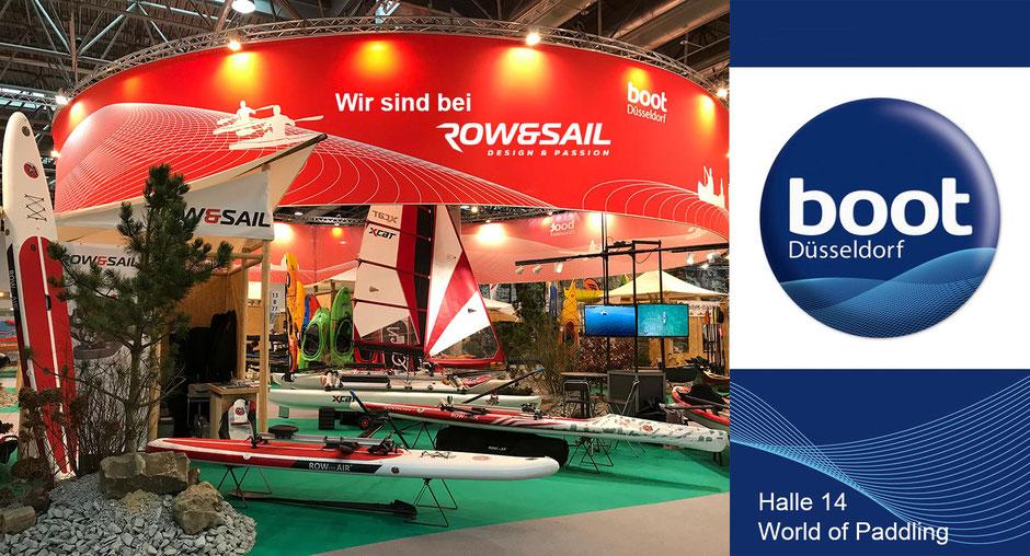 50 Jahre Wassersportmesse boot Düsseldorf: Wir sind auf dem Stand unseres Herstellers ROW&SAIL!