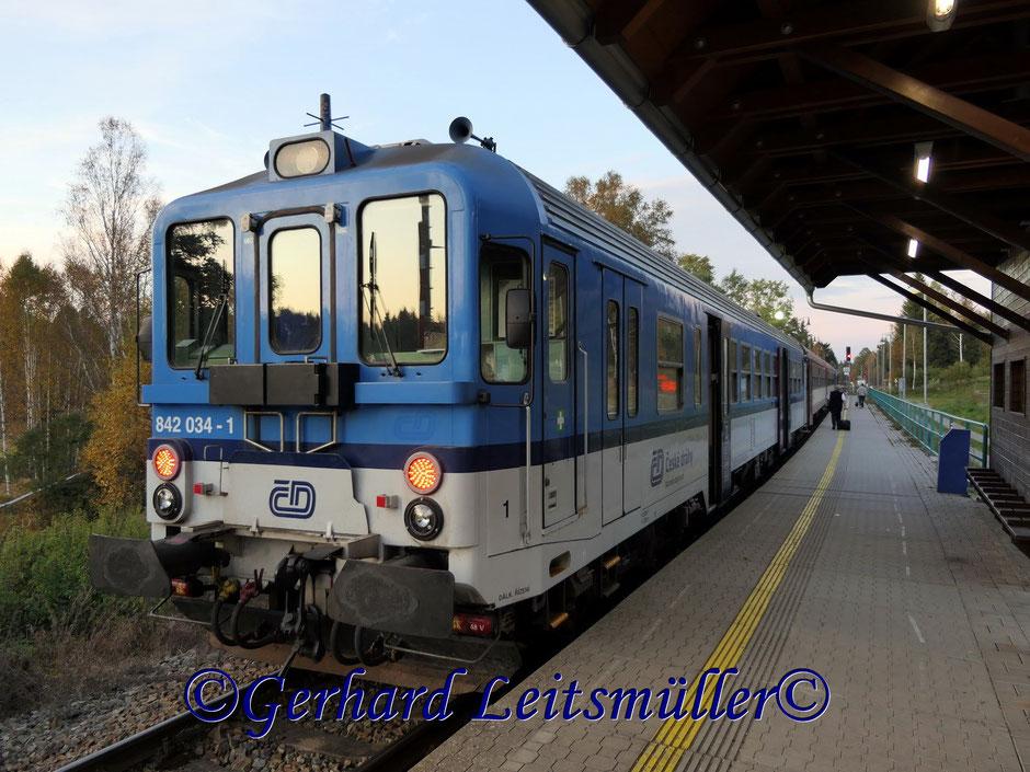 Mit der Diesellok von Neuthal nach Krumau