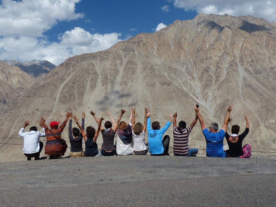Jyoti-yogi au Ladakh, yoga et méditation, août 2017