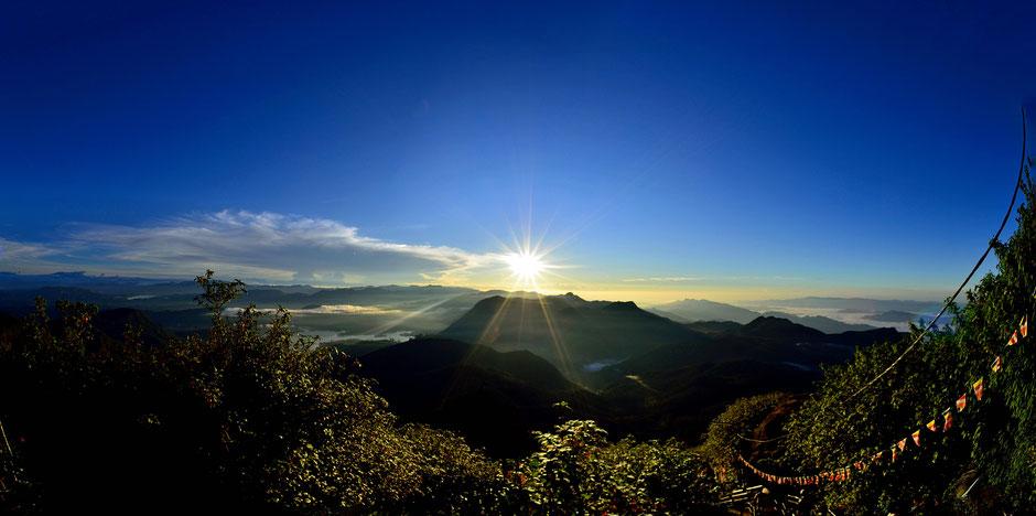 Panorama über das Hochland von Sri Lanka