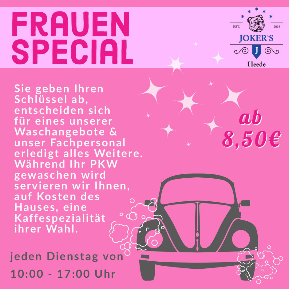 Ladies Day Frauentag Frauen Waschstrasse LKW Waschanlage Heede Lathen Emsland Papenburg Farmer Shop Wohnmobilstellplatz Wohnmobil Serviceplatz
