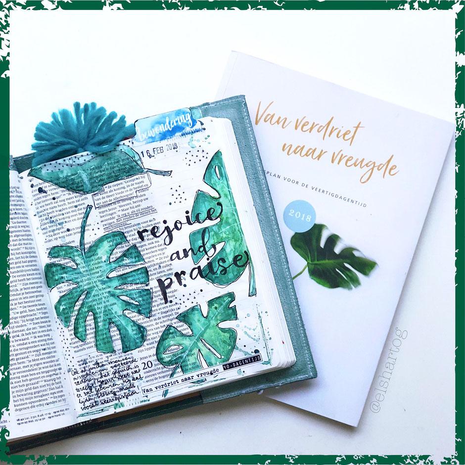 voorbeeld biblejournaling bijbeljournaling intocht palmpasen