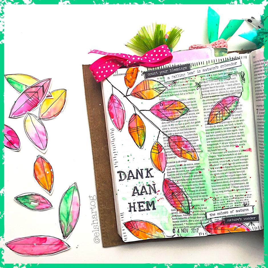 Voorbeeld biblejournaling Deuteronomium 6:10-13