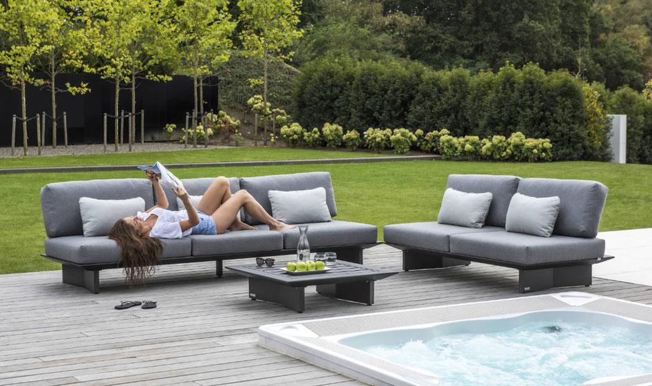 Stylishe Aluminiummöbel für die Terrasse