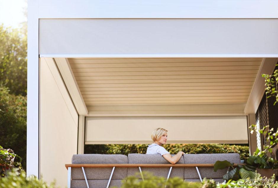 Wintergarten Sonnenschutz mit Zip Screens