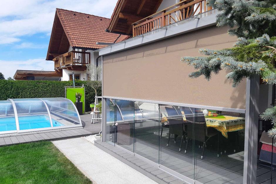 Wintergarten Sonnenschutz Zip Screen