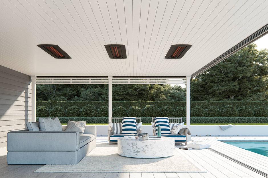 Heizsysteme für die Terrasse und Pool