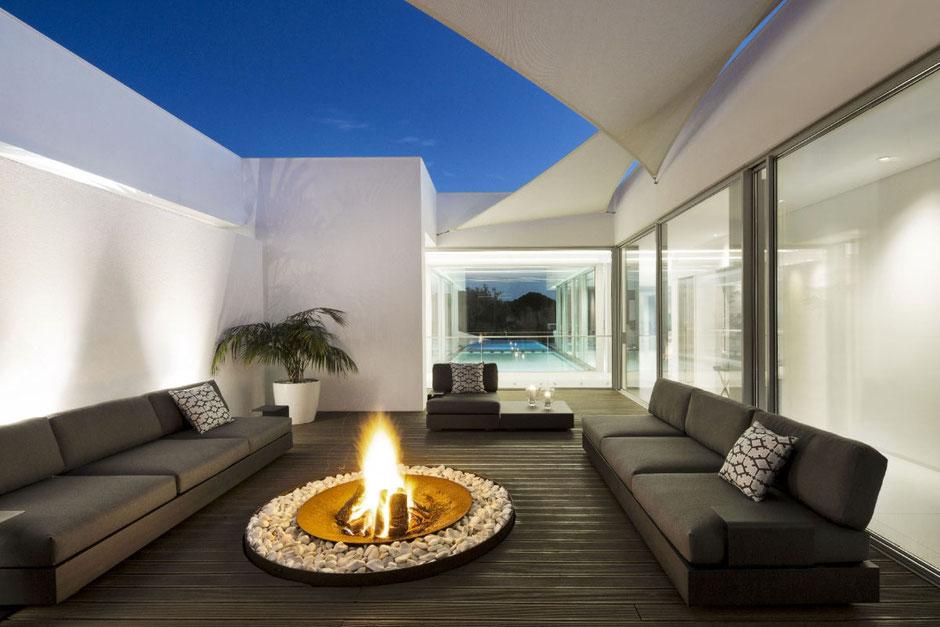 Terrassenmöbel aus Edelstahl