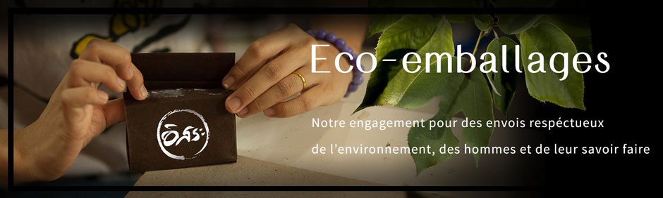 Eco-emballages fait à la main