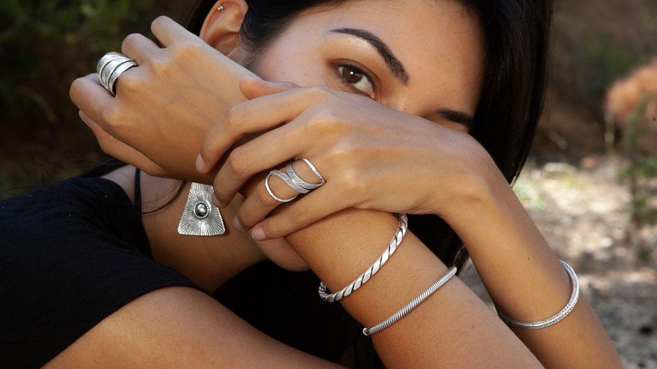 bijoux en argent massif, bague création N° 62