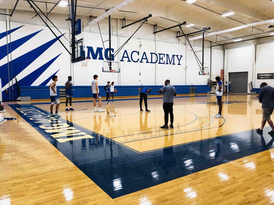 IMGアカデミーバスケ練習風景