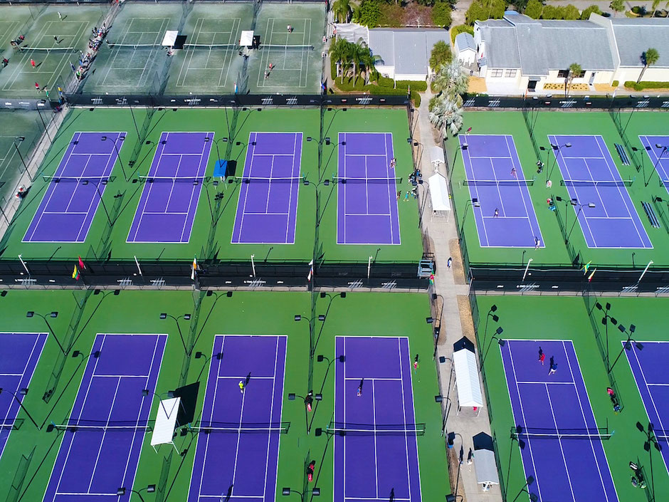 IMG Academy's tennis courts