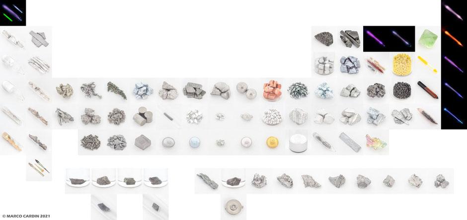 collezione elementi, collezionare elementi chimici, hobby scientifici, collezione metalli, collezionare elementi tavola periodica, tavola periodica degli elementi, foto elementi tavola periodica