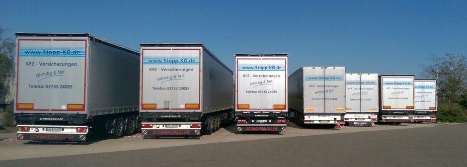 Stopp KG Versicherungen günstig und fair LKW-Flotte